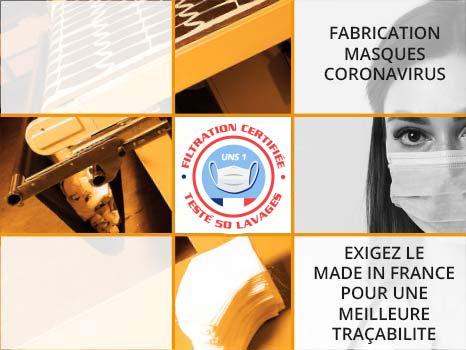 Fabrication masque Coronavirus-Covid 19